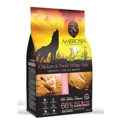 AMBROSIA DOG GROWTH CHIC.&FRESH W.FISH 2kg GF