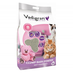 VADIGRAN CAT LITTER BABY POWDER 12kg
